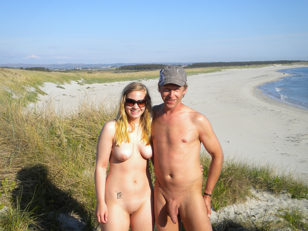 My wife naked on the beach-2313